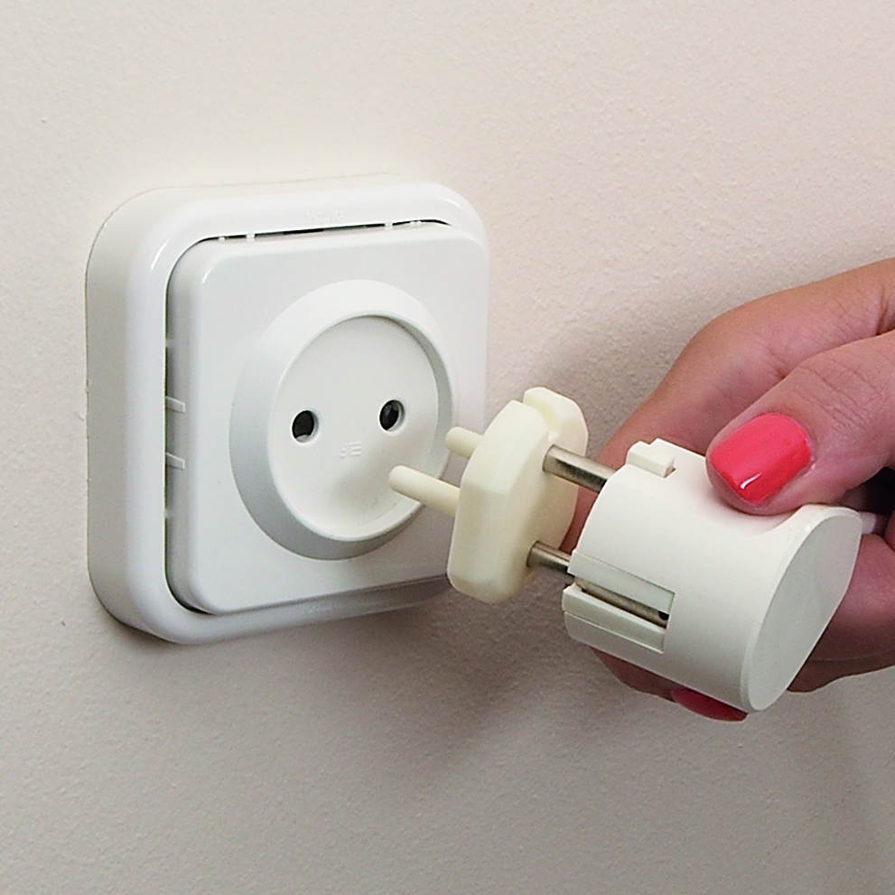 Clippasafe EU Plug Socket Covers 6 Pack Child Safety Use When Away on Holiday