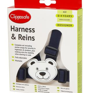 10 D Designer Teddy Harness and Reins New Navy White