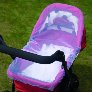 6 PRAM AND CARRYCOT INSECT NET WHITE Lifestyle1