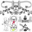 10 Premium Harness Reins Illustration