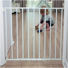 Extendable No Trip Gate (White Metal)
