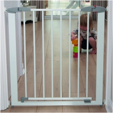 Swing Shut Extendable Gate (White Metal)