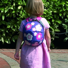 Toddler Daysack - Flowers - with lead Rein